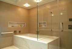 #Baño #moderno #decoracion via @planreforma #iluminacion #espejos #rehabilitación #griferia #pared
