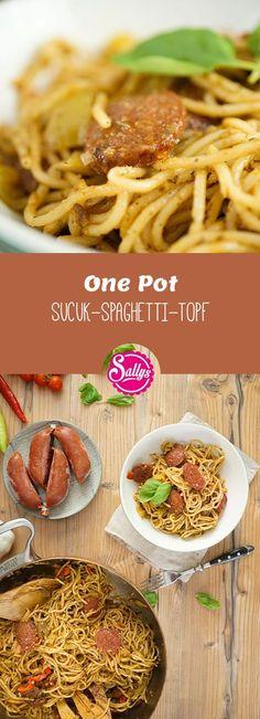 One Pot Gerichte sind Rezepte aus nur einem Topf – dieses Mal eine Variante mit Sucuk, der türkischen Knoblauchwurst. Dadurch ist das Gericht wunderbar würzig.