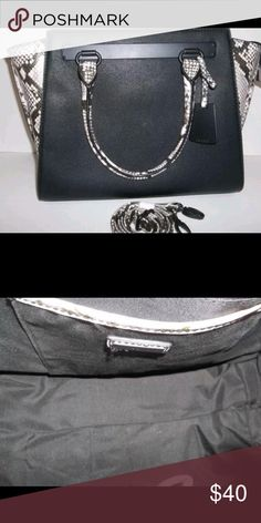 c8211b1463c Aldo Black and White Snakeskin Purse Gorgeous purse only used a couple of  times, and