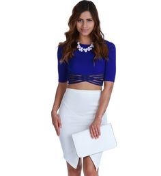 8741b43b6a059 Royal First in Line Crop Top