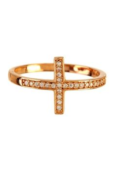 Side Cross Ring by Charming Statements