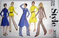 Vintage Sewing Pattern 70s Dress or Tunic Jacket & by stumbleupon, $7.95