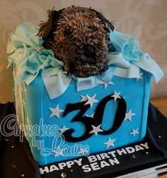 'Jake' the Border Terrier cake by Cupcakes by Louise (https://www.facebook.com/pages/Cupcakes-by-Louise/113809238661735)