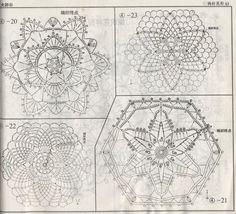 Crochet Knitting Handicraft: motifs