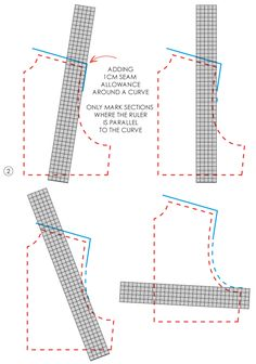 Pattern tool box: Grading rulers and french curves.