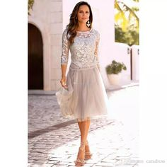 2017 New Fashion Lace Mother of the Bride Dresses With Sleeves Two Pieces Tulle Bridesmaid Gowns Plus Size Custom Made Women Formal Wear Mother Formal Dresses Evening Dresses Mother of the Bride Dresses Online with $132.5/Piece on Caradress's Store | DHgate.com
