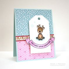 Hi everyone! Today is reveal day for the Simon Says Stamp December 2016 Card Kit: Merry and Bright ...and it is AMAZING!!! Here it is: ...