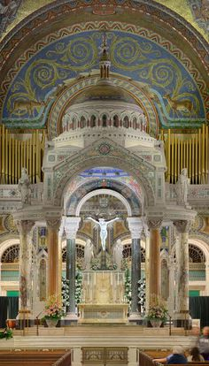 Another favorite of mine: the truly stunning High Altar and Baldachin of the Cathedral Basilica of Saint Louis in Saint Louis, Missouri, USA. We are going there in October.