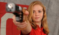 Kelsey Imig finished first in the women's air pistol competition at the Winter Open