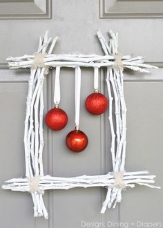 Square Christmas Wreath.