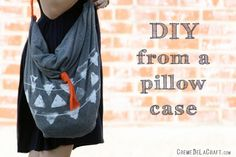Hobo Bag: A pillowcase already has all the stitching you need to create this easy and stylish tote bag. Just add a cross-body shoulder strap and it's comfortable enough to carry around all day. (via Creme de la Craft)