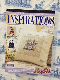 Inspirations Magazine: The World& most beautiful Embroidery Issue 54 Inspirations Magazine, Thread Painting, World's Most Beautiful, Lace Embroidery, Vintage Textiles, Ebay, Yarn Painting