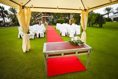 Wedding ceremony at Fuerteventura golf club.Canary Islands. Spain.