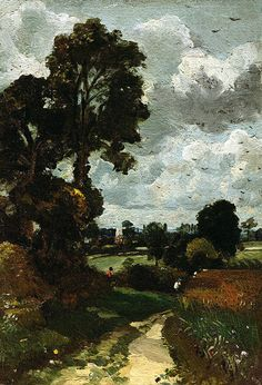 """Oil Sketch Of Stoke"" by John Constable."