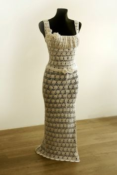 want to make!   Crochet  Wedding Dress by Illiana on Etsy
