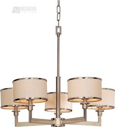 320.  South Shore Decorating: Maxim Lighting 12055WTSN Nexus Modern / Contemporary Chandelier MX-12055-WT-SN