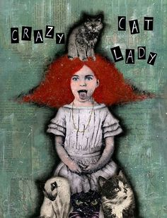 Crazy Cat Lady, Crazy Cats, Grooming Kit, Brand Store, Mixed Media Artists, Cat Furniture, Cat Art, All The Colors, Disney Characters