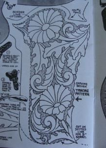 Page Title: Floral designs you may select from for any holster rig
