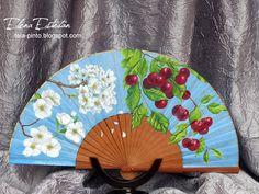 @todo color: TROCITOS DEL JERTE Hand Fan, Home Appliances, Art, Beautiful, Painted Fan, Hearts Of Palms, Scrap, Paintings Of Flowers, Hand Fans