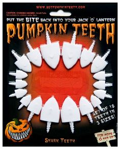 Does your #SJSharks pumpkin need some teeth?