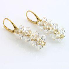 Drops of golden rain - earrings