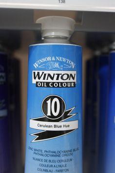 Winsor & Newton Winton Oil Paint 200ml Cerulean Blue Hue Cerulean, Vodka Bottle, Paint, Blue, Color Blue, Oil, Picture Walls, Paintings, Drawing