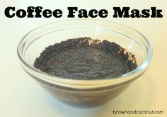 Ground coffee, milk, honey.   Wash face, apply mask, leave on for 20 min, wash off with cool water.