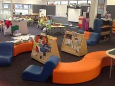 Flexible furniture is a feature of the new learning spaces.