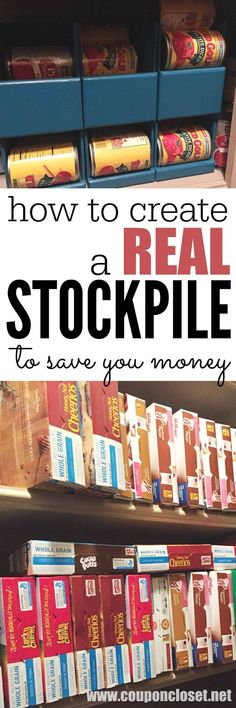 Couponing 101: What is a stockpile and Why you need one