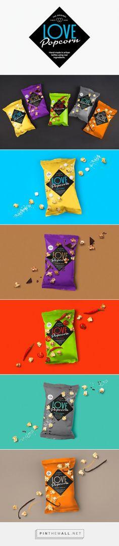 LOVE #Popcorn #packaging by Robot Food - http://www.packagingoftheworld.com/2015/02/love-popcorn.html