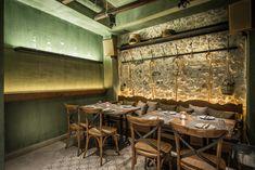 Peskesi restaurant by Tectus Design, Heraklion Greece hotels and restaurants Heraklion, Design Blog, Cafe Design, Greece Hotels, Bar Design Awards, Asian Restaurants, Arch Interior, Rustic Stone, Old Mansions