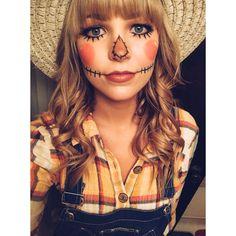 halloween costumes for girls Fasching Schminken Schminktipps Costume Halloween, Halloween Scarecrow, Halloween Makeup Looks, Halloween Costumes For Girls, Girl Costumes, Scary Halloween, Cute Scarecrow Costume, Halloween Ideas, Halloween Season