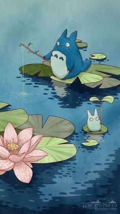 Cartoon Wallpaper, Anime Scenery Wallpaper, Kawaii Wallpaper, Iphone Wallpaper Drawing, Flower Wallpaper, Art Studio Ghibli, Studio Ghibli Movies, Anime Kunst, Anime Art