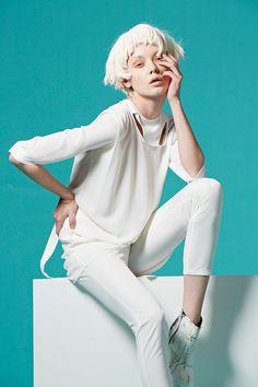 Cut Out Halterneck Reversible Blouse White by VivacitaShop on Etsy