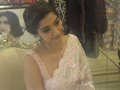 Sonam Kapoor in a baby pink Saree