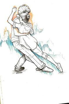 Draws pics of People dancing!!