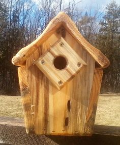 Edit description  Specialty Green Pine wren chickadee bird house