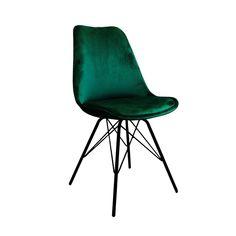 Kick designstoel Velvet - donker groen