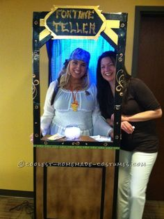 Fantastic Fortune Teller in Booth Homemade Costume Idea... Homemade Costume Contest