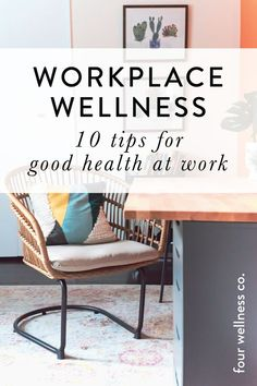Workplace Wellness: 10 Tips for Good Health at Work // Four Wellness Co. Workplace wellness: 10 tips for good health at work // Wellness tips for employee health and well-being during the workday //. Health And Wellness Quotes, Wellness Tips, Health And Wellbeing, Health And Nutrition, Health Fitness, Mental Health, Health Benefits, Personal Wellness, Health Education