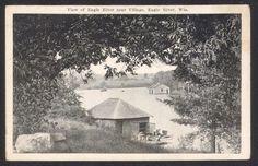 Eagle River Wi View Near Village Postcard   eBay