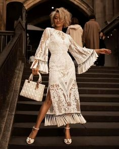 Mar 2020 - White Sequins Fringe Bandage Midi Dress, M / White Mode Outfits, Dress Outfits, Fashion Dresses, Maxi Dresses, Wedding Dresses, Summer Dresses, Lace Wedding, White Dress Outfit, Bandage Dresses