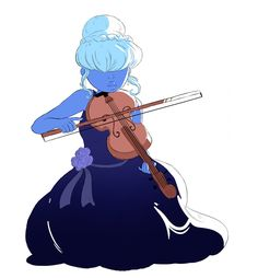 Sapphire as a professional violinist