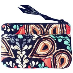 Vera Bradley Coin Purse in Sierra ($13) ❤ liked on Polyvore featuring bags, wallets, change purse wallet, coin pouch wallet, blue bag, pouch bag and coin purse wallets