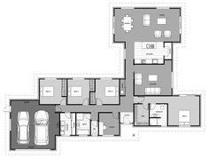 Isabel | Signature Homes Best House Plans, Dream House Plans, House Floor Plans, Single Storey House Plans, Double Storey House, L Shaped House Plans, Hall Flooring, Home Design Floor Plans, House Blueprints