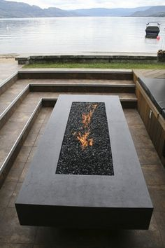 Fired Earth, Fire Table, Fire Bowls, Concrete, Patio, Outdoor Decor, Modern, House, Beautiful