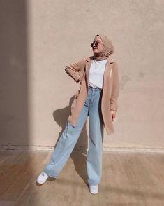 Hijab Fashion Summer, Modest Fashion Hijab, K Fashion, Stylish Hijab, Modern Hijab Fashion, Street Hijab Fashion, Casual Hijab Outfit, Hijab Fashion Inspiration, Muslim Fashion