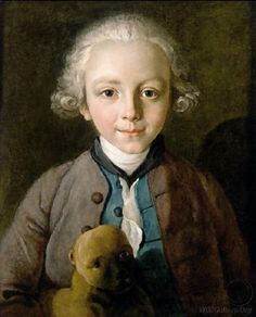 Young Boy With A Dog, Philipe Mercier (1689-1760)