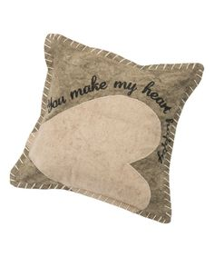 'You Make My Heart Happy' Throw Pillow