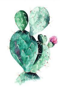 Cactus VON Annet Weelink Design now on JUNIQE! Cactus Drawing, Cactus Painting, Cactus Art, Buy Cactus, Cactus Decor, Image Cactus, Cactus House Plants, Garden Cactus, Cacti